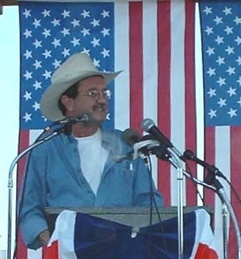 Photogenic author Jim Hightower at Fighting Bob Fest 2003
