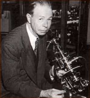 Royal Raymond Rife with one of his microscopes