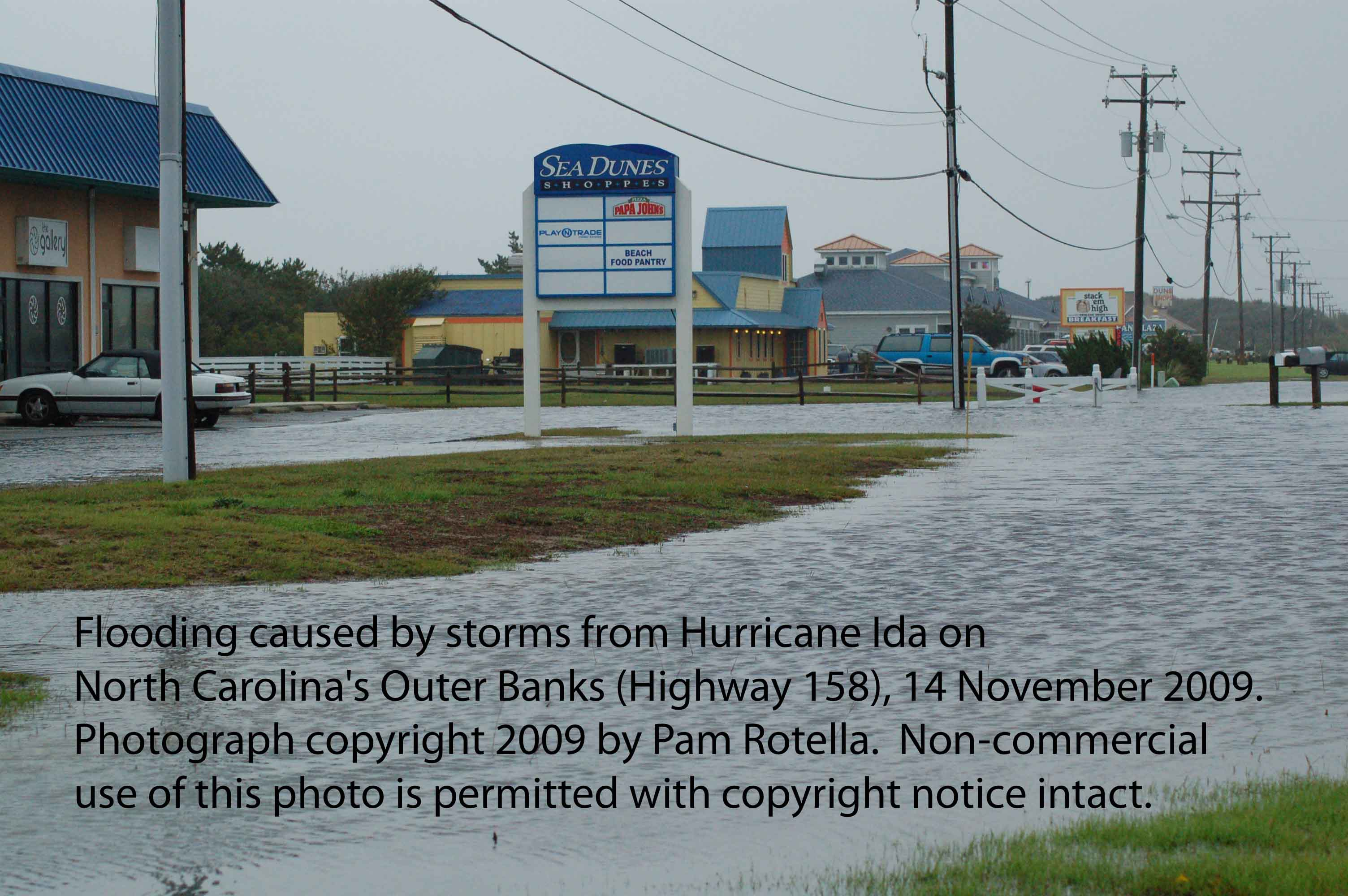 Hurricane Ida aftermath, Highway 158 North Carolina