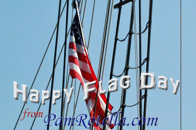 Flag Day card to readers