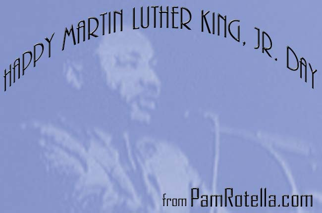 Martin Luther King Day card to readers