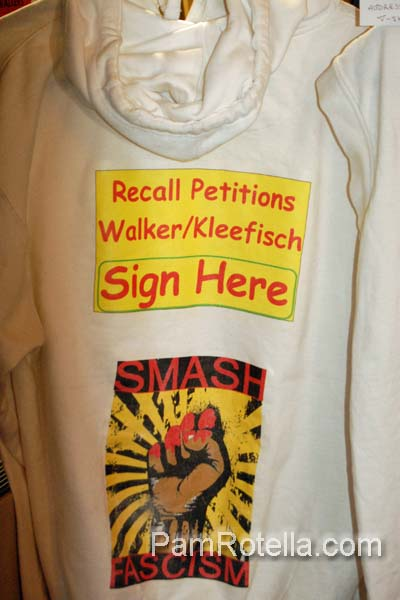 Protest sign displayed at 'Art in Protest' show