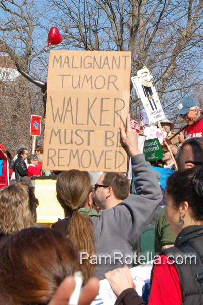 Madison rally on capitol square, 10 March 2012
