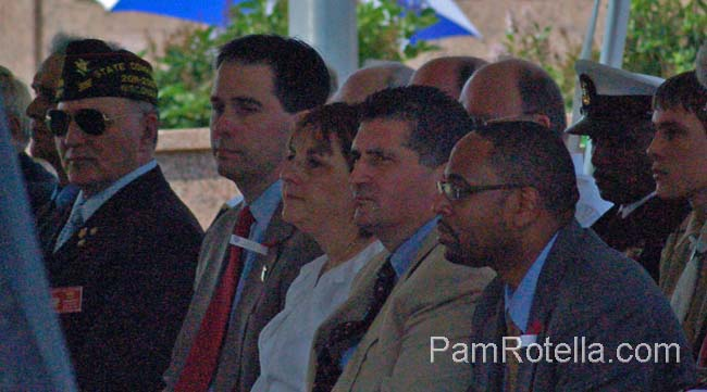Walker seated during Memorial Day services 2012, photo by Pam Rotella