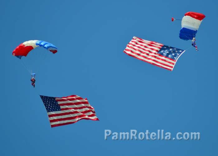 Liberty Parachute Team at EAA Air Venture 2013, photo by Pam Rotella