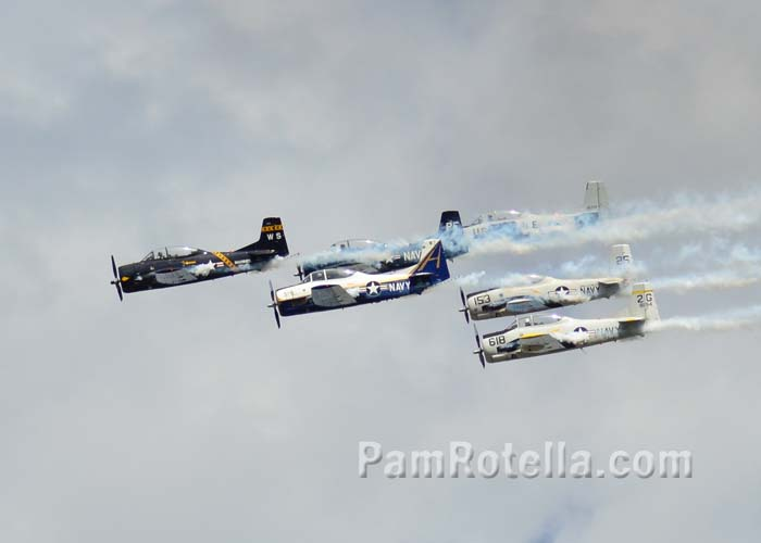 Vintage Marines/Navy airplanes at EAA Air Venture 2013, photo by Pam Rotella