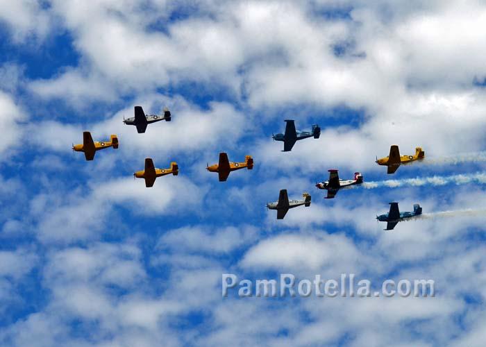 Vintage military aircraft at EAA Air Venture 2013, photo by Pam Rotella