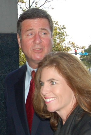 Sen. George 'Macaca' Allen (R-VA) with wife, photo by Pam Rotella