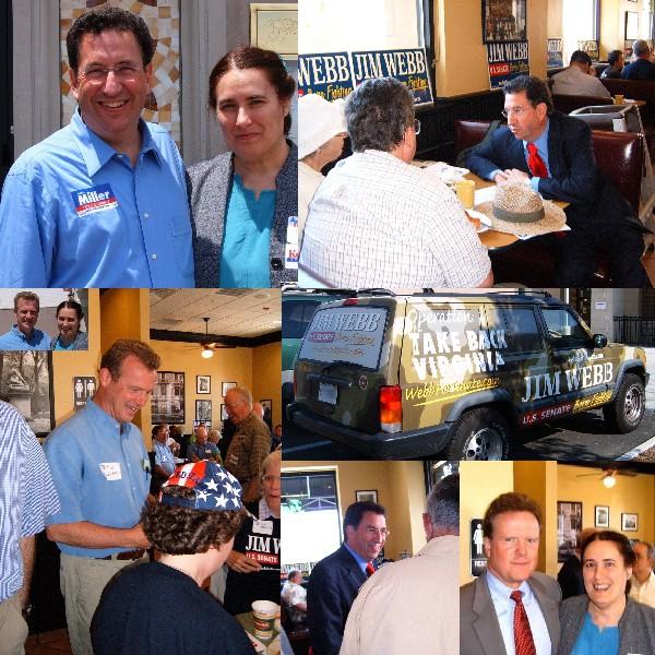 Democratic breakfast with Kellam, Webb, and Miller, 10-June-06