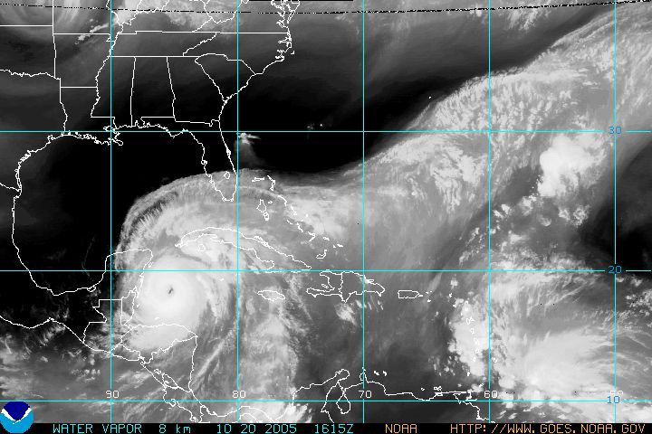 Satellite image of Wilma from goes.noaa.gov