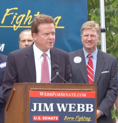 James Webb (Virginia's Democratic Senate candidate), photo by Pam Rotella